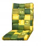 Zöld-sárga fotel párna