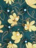 Sötétzöld-virágos napozóágy párna